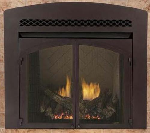 "Monessen GLD36AFBT Designer 36"" Decorative Arched Front in Textured Black"