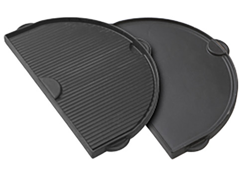 Primo PRM365 Half-Moon Cast Iron Griddle for Oval LG 300 Series Grill