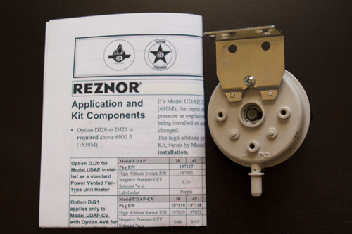 Reznor DJ20 197205 High Altitude Kit For Reznor UDAS and UDBS-125 Heaters