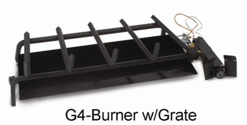 """RH Peterson Real-Fyre G4-18/20N 18"""" / 20"""" Glowing Ember Vented Burner - Natural Gas"""