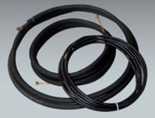 """THS 145825WIRE Line Set with Wire for Ductless Mini Split Air Conditioning Systems - 1/4"""" x 5/8"""" x 1/2"""" Insulation x 25'"""