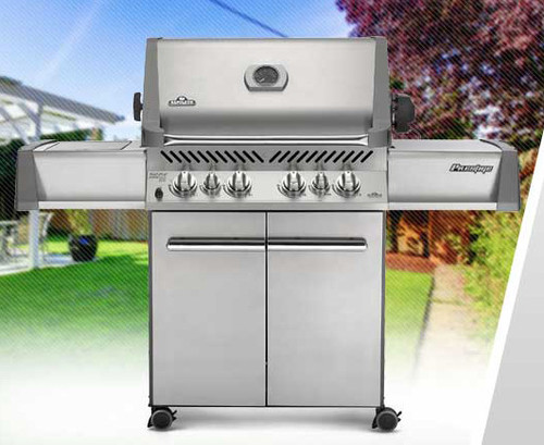 Napoleon P500RSIBNSS Prestige Series Freestanding Gas Grill with Infrared Rear and Side Burners - Natural Gas