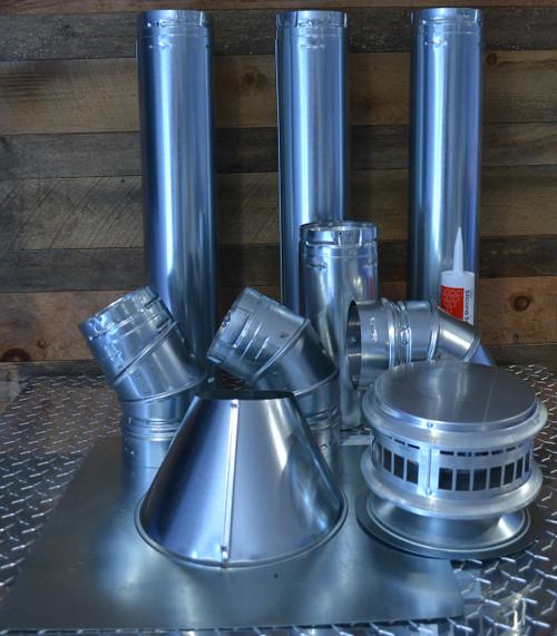 """5"""" Vertical Unit Heater Vent Kit with Vent Cap"""