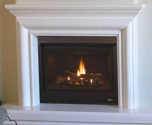 "Superior DRT3033RMN 33"" Direct Vent Fireplace, Rear Vent Pro Series"