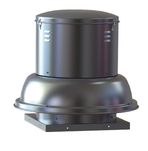 "S & P SDB06ML1S Downblast Belt Drive Centrifugal Roof Exhauster - 6"" Wheel, 115 Volt"
