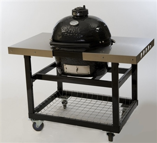 Primo PRM319 Stainless Steel Side Tables for Oval 200 Grill Cart