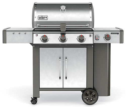 Weber 61004001 Genesis II LX S-340 Freestanding Gas Grill with Side Burner - Stainless/Black - LP