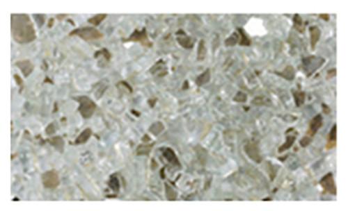 Superior CRSHGL-P 5 Pound Bag Platinum Crushed Glass