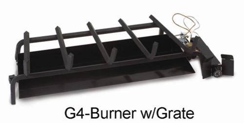 """RH Peterson Real-Fyre GX4-18/20N 18"""" / 20"""" Glowing Ember Vented Burner with EPK-1N Valve - Natural Gas"""