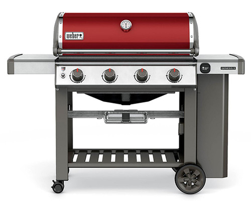 Weber 62030001 Genesis II E-410 Freestanding Gas Grill - Crimson - LP