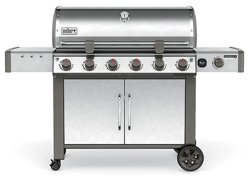 Weber 68004001 Genesis II LX S-640 Freestanding Gas Grill with Side Burner - Stainless/Black - NG
