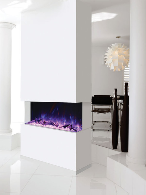 Amantii TRU-VIEW-XL 3-Sided Electric Fireplace with Logset