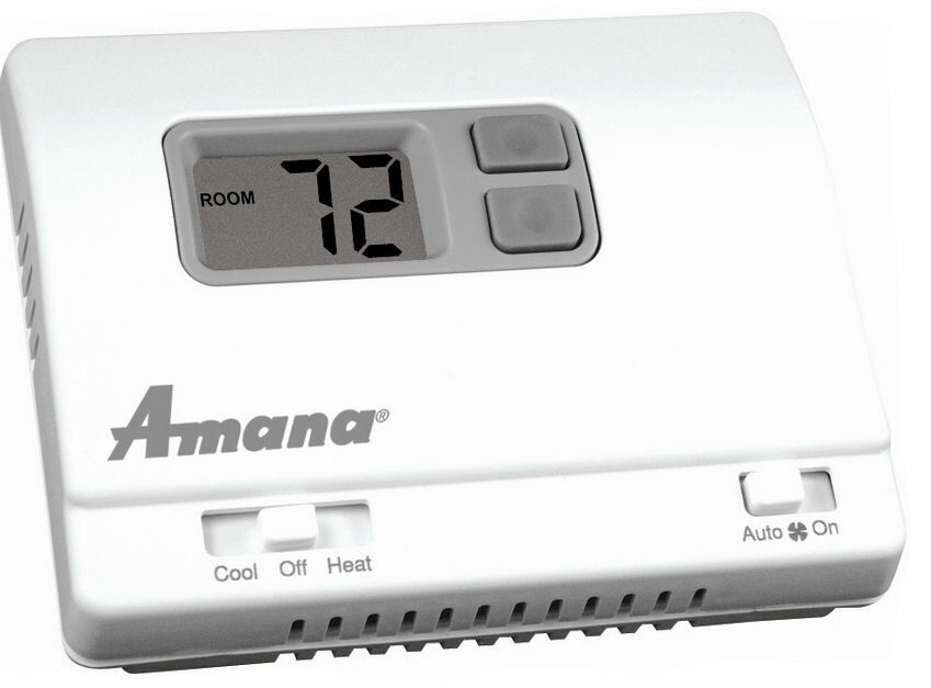 amana 2246002 kit non programmable thermostat and pwhk01c wire harness rh totalhomesupply com amana ptac thermostat wiring Trane Heat Pumps Thermostat Wiring