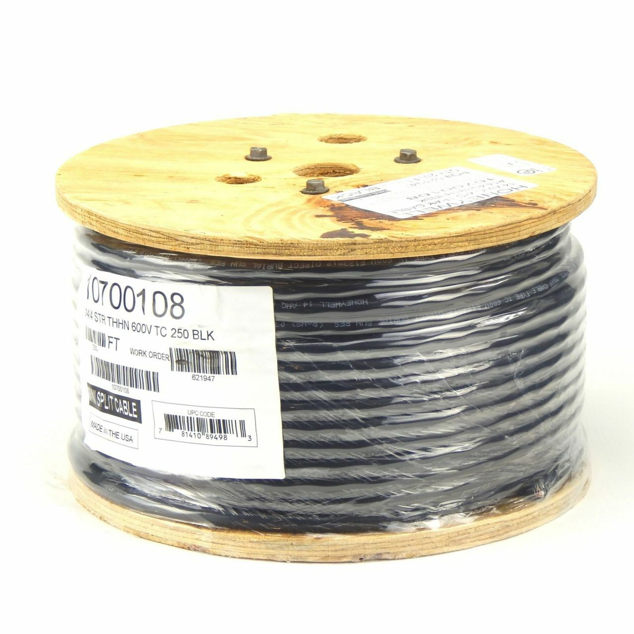 Honeywell 10750108 250 Foot Reel 14 4 Metal Clad Mini Split Cable 500 Ft 2 1 Stranded Thhn Single Conductor Electrical Wire Black Awg