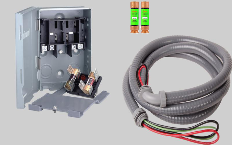 quick disconnect switch kit for mini split air conditioner systems rh totalhomesupply com wiring a disconnect switch to meter base wiring a battery disconnect switch