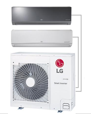 Lg 18000 Btu 2 Zone Mini Split Air Conditioner Lmu18chv W