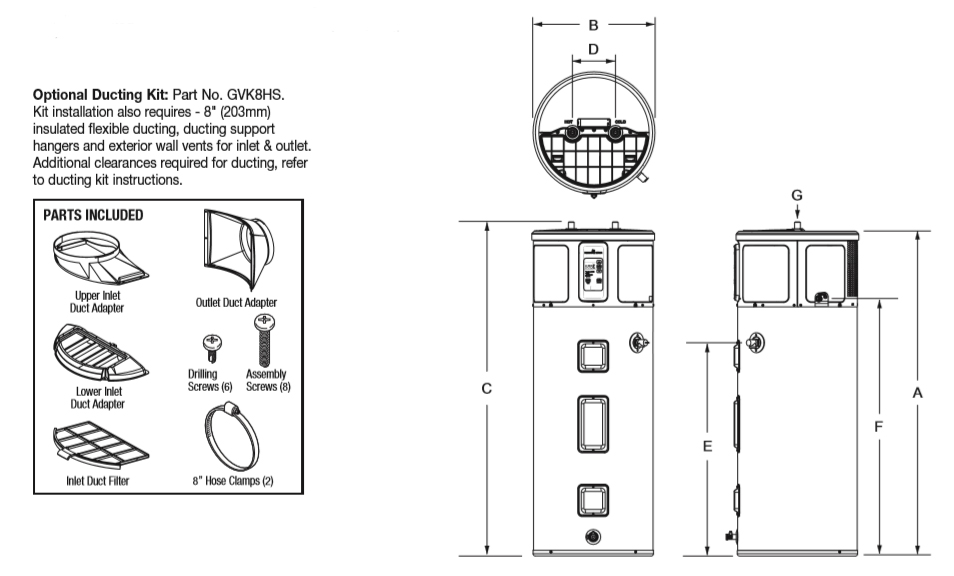 bradford white water heater diagram