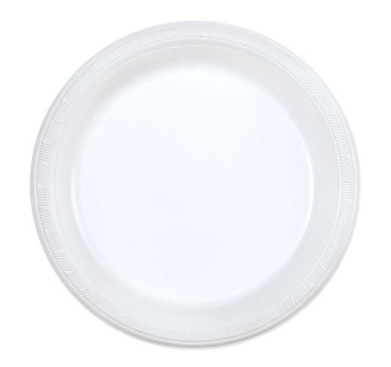 "Party Dimensions 9"" White Plastic Plates"