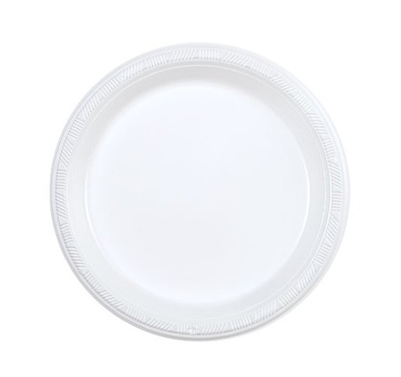 "Party Dimensions 7"" White Plastic Plates"