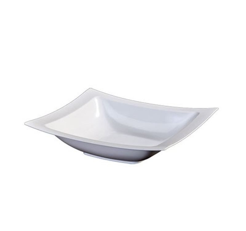 Lillian 5 oz. White Plastic Rectangle Dessert Bowls