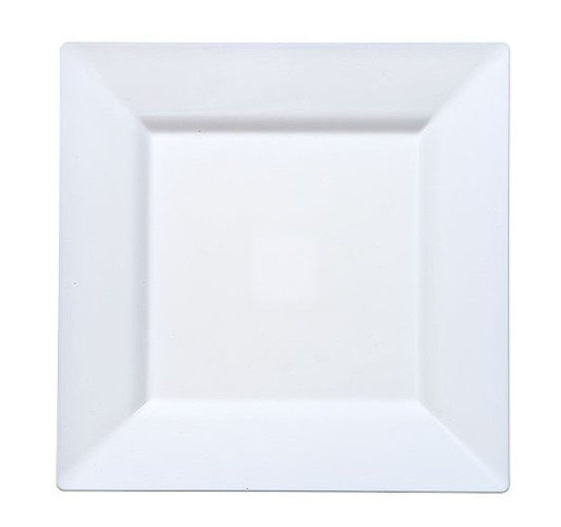 Elegant square disposable plates. Perfect for a classy dinner parties or weddings.  sc 1 st  Partytrends & Solid Squares 9.5\