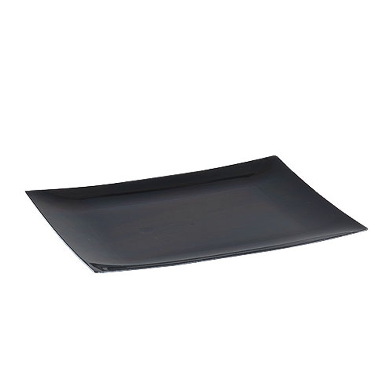 Lillian 7  Black Plastic Rectangle Dessert Plates  sc 1 st  Partytrends.Ca & Lillian Tablesettings | Partytrends Canada