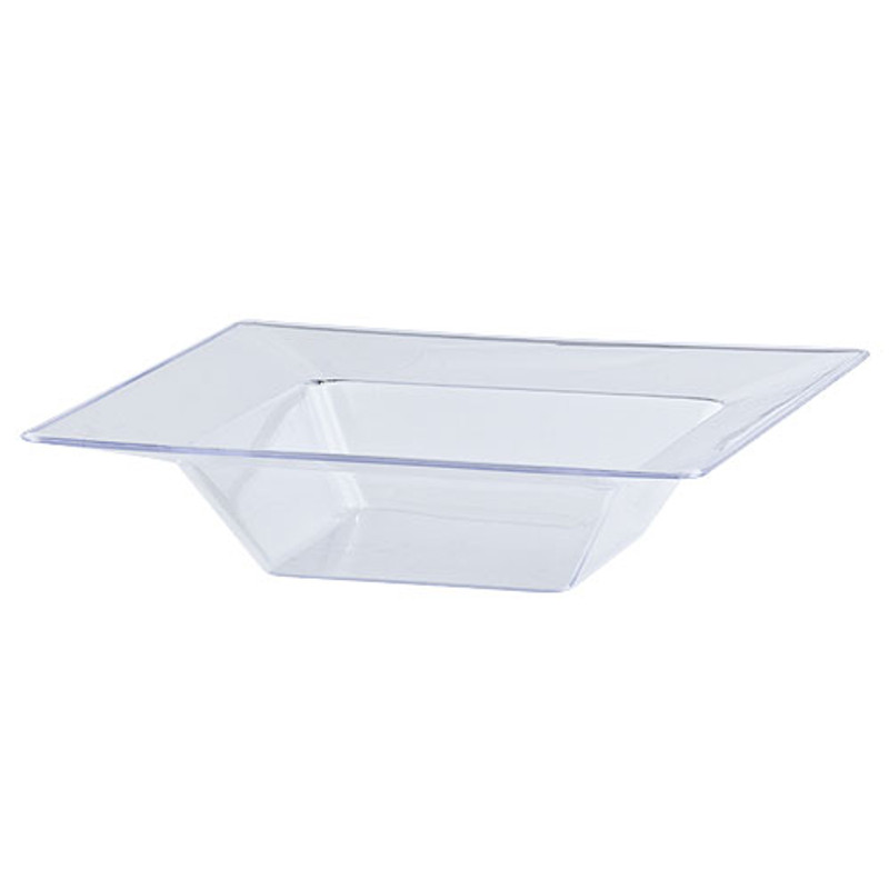 Solid Squares 5 oz. Clear Square Plastic Bowls
