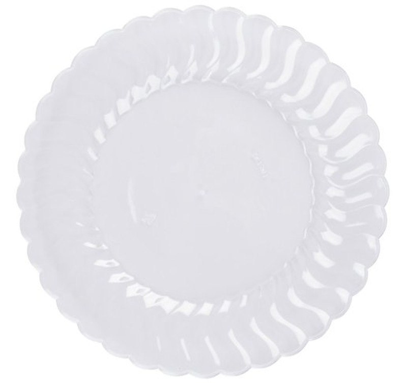 "Flairware 10.25"" Plastic Clear Dinner Plates"