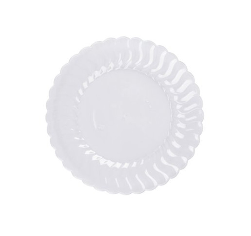 ... Plastic Clear Salad Plates. Elegant Flairware disposable products with scalloped edges are perfect for a classy dinner parties or weddings ...  sc 1 st  Partytrends.Ca & Flairware 7.5