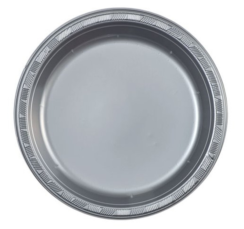 Inexpensive and cheap plastic plates. Sold in wholesale bulk and retail.  sc 1 st  Partytrends & Silver 9