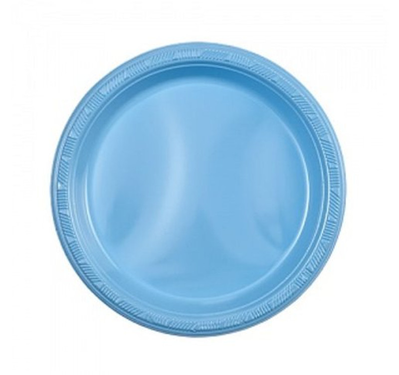 "Light Blue 7"" Plastic Plates"