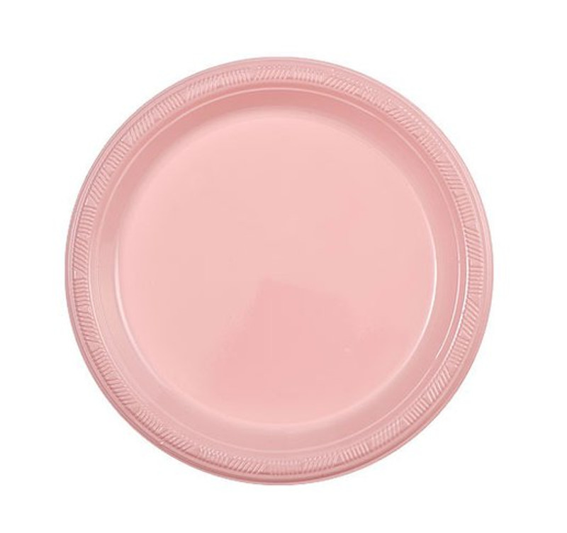 "Light Pink 7"" Plastic Plates"