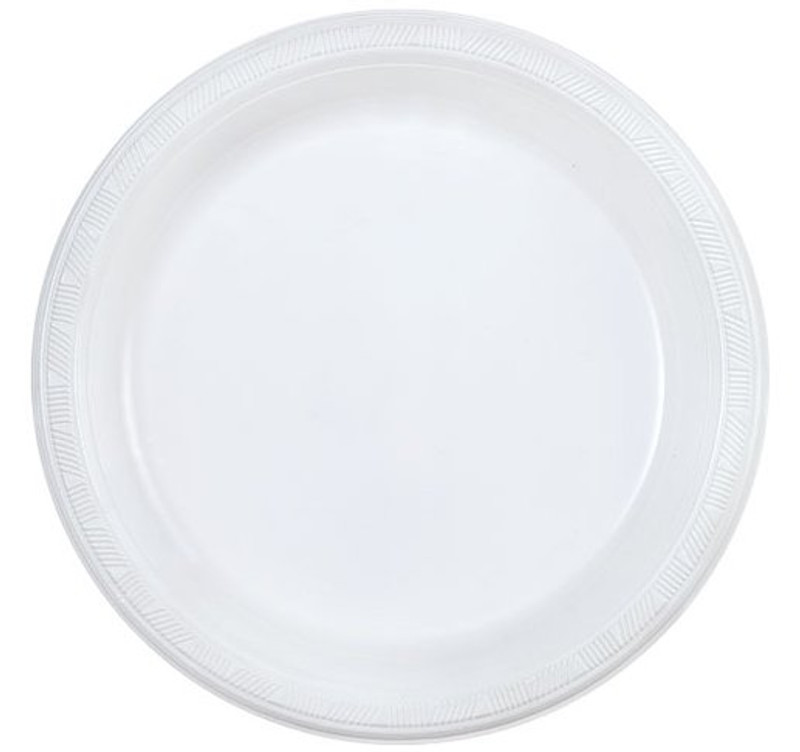 "Party Dimensions 10"" White Plastic Plates"