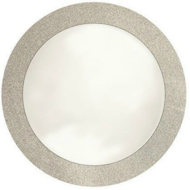 "Glitz 14"" Silver Glitter Cardboard Placemat Charger"