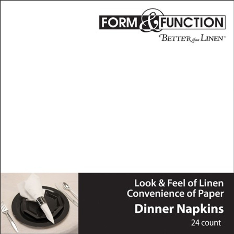 White Airlaid Dinner Napkins