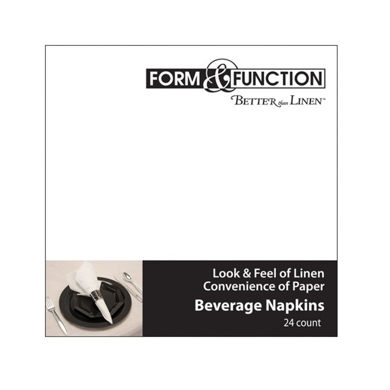 White Airlaid Beverage Napkins