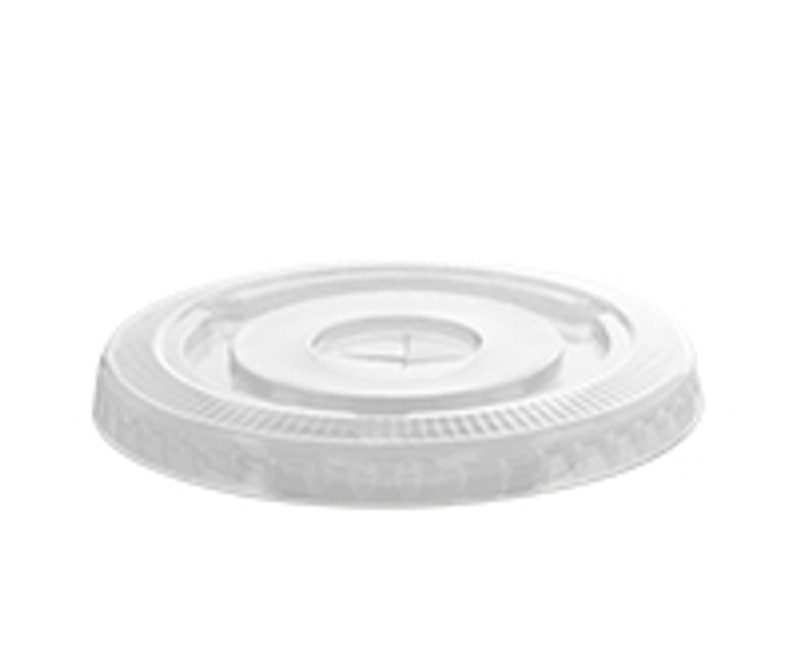 Clear Plastic Smoothie Flat Lid w/Hole-Large