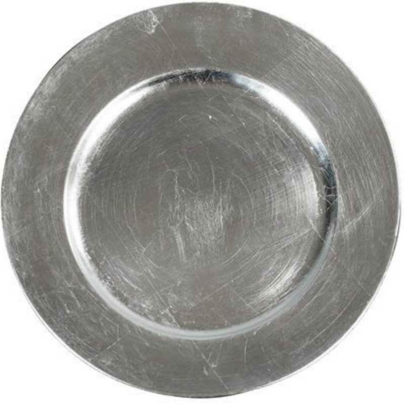 "13"" Silver Charger Plate"