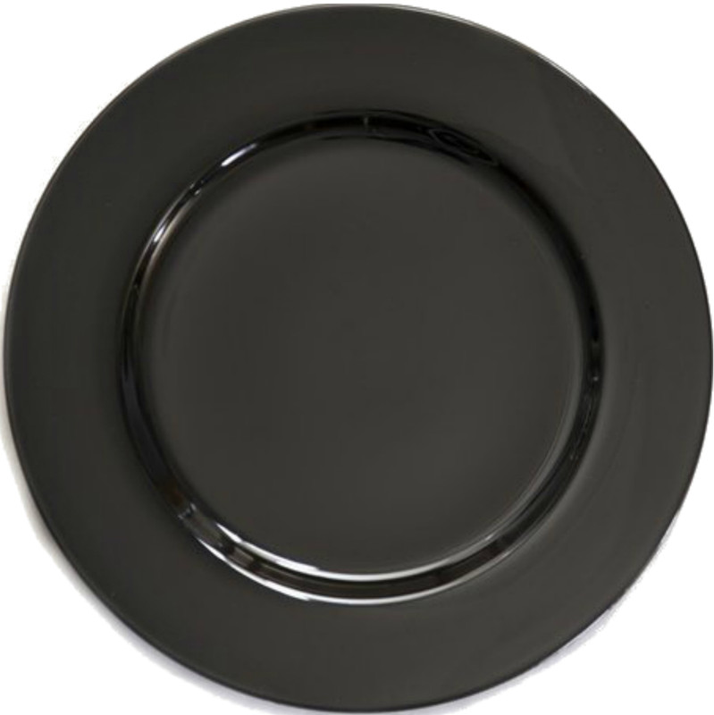 Gorgeous charger plate that will enhance any tablesetting. Made from non-disposable acrylic lacquer, each charger plate measures 13 inches in diameter, and fits standard sized dinner plate. Great for weddings, events, catering, and more!