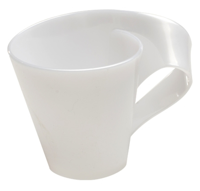 Tiny Tonics 2.7 oz White Plastic Espresso Mugs