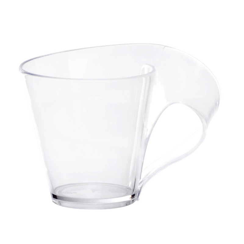Tiny Tonics 2.7 oz Clear Plastic Espresso Mugs