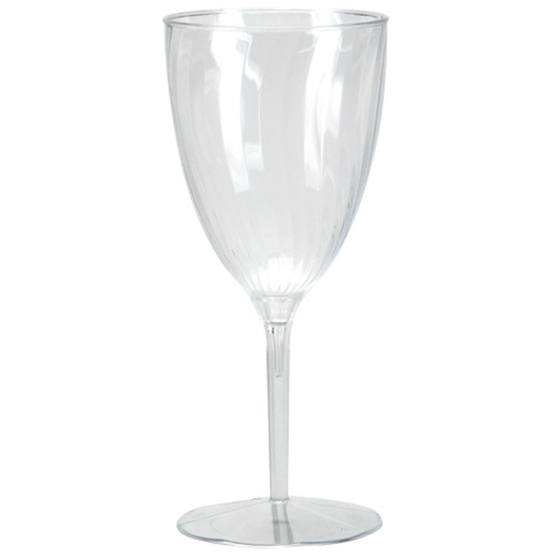 Lillian elegant swirled, ridged plastic design champagne flutes are perfect for classy dinner parties or weddings. These 1-piece design means no assembly or pieces falling apart. Sold in wholesale bulk and retail.