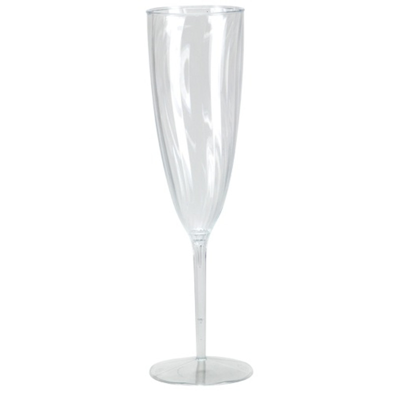 Lillian elegant swirled, ridged plastic design wine glasses are perfect for classy dinner parties or weddings. These 1-piece design means no assembly or pieces falling apart. Sold in wholesale bulk and retail.