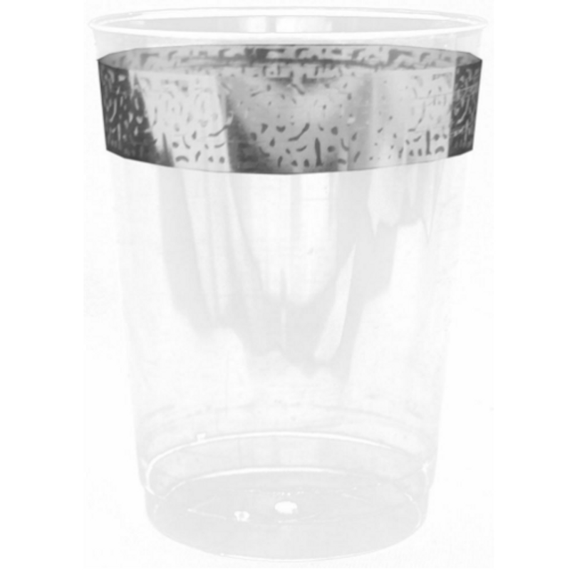 Decor Inspiration 10 oz Silver Plastic Tumblers