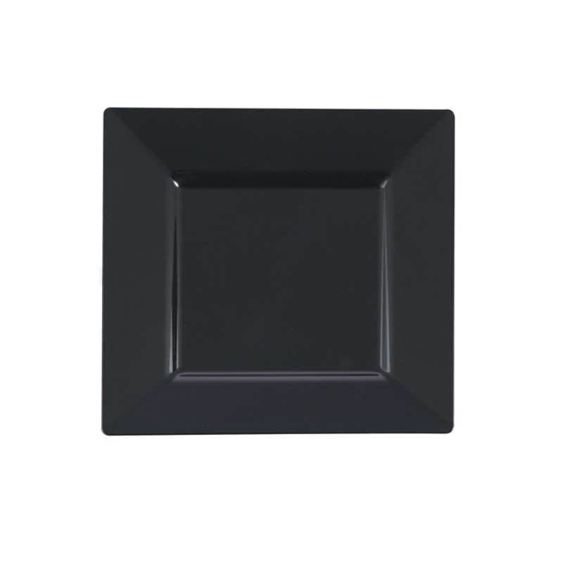 Elegant square disposable plates. Perfect for a classy dinner parties or weddings. These are made from heavyweight plastic. Sold in wholesale bulk and retail.