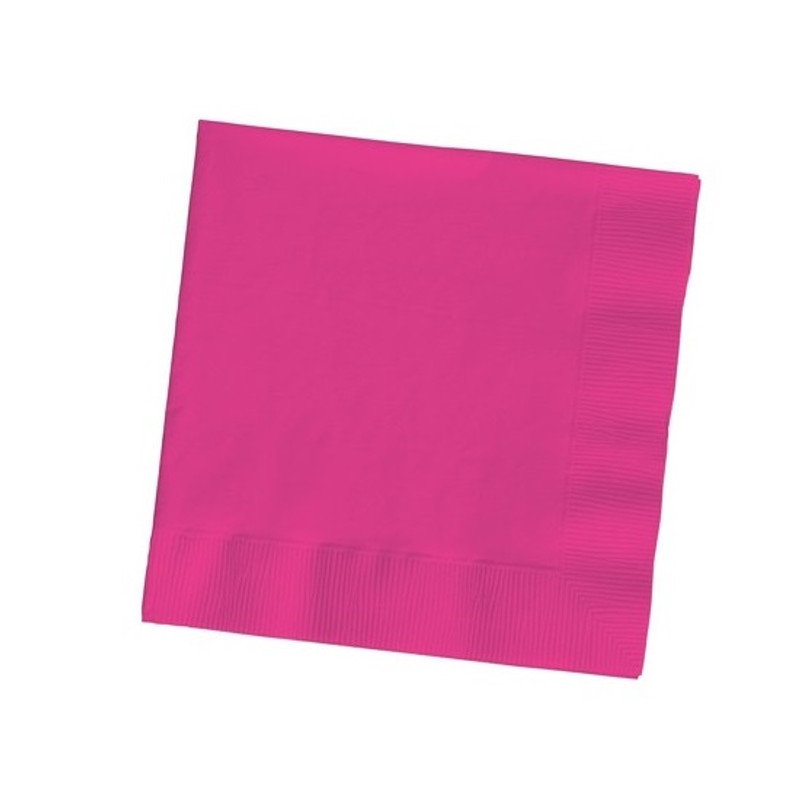 Hot Magenta Beverage Napkins