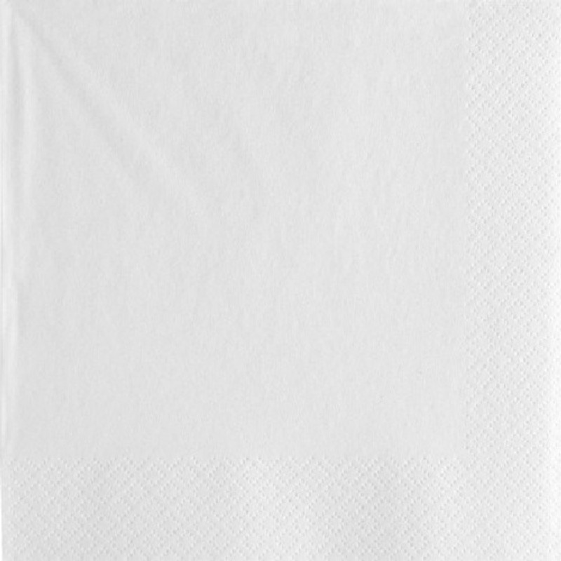 White 3-ply Lunch Napkins