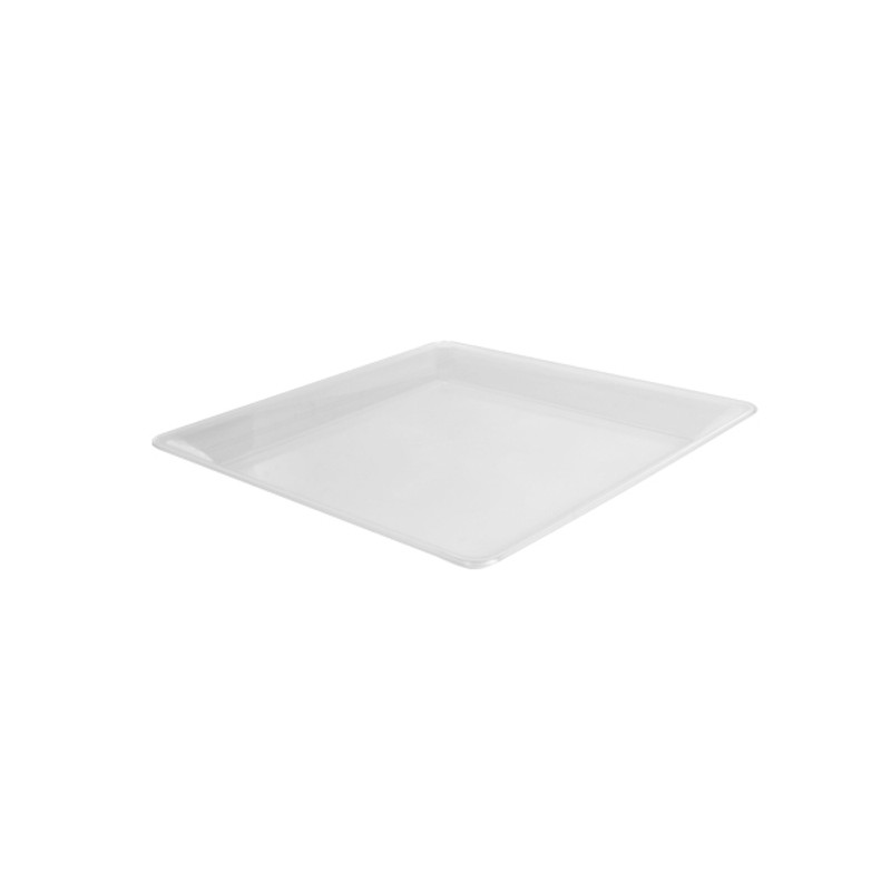 "10.75"" x 10.75"" Clear Plastic Square Trays"