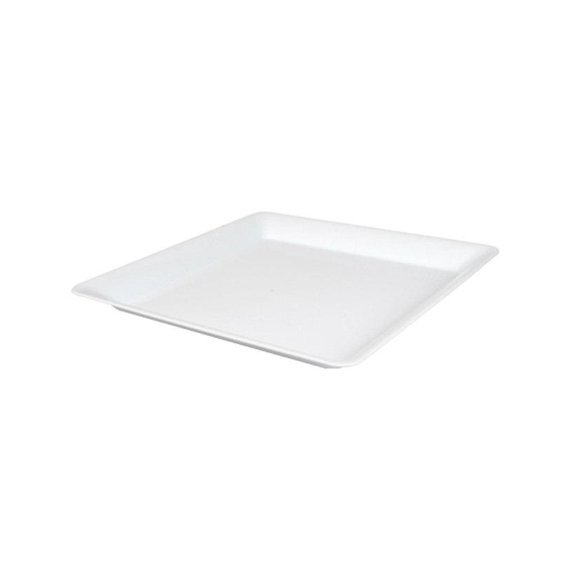 "12"" x 12"" White Square Plastic Trays"
