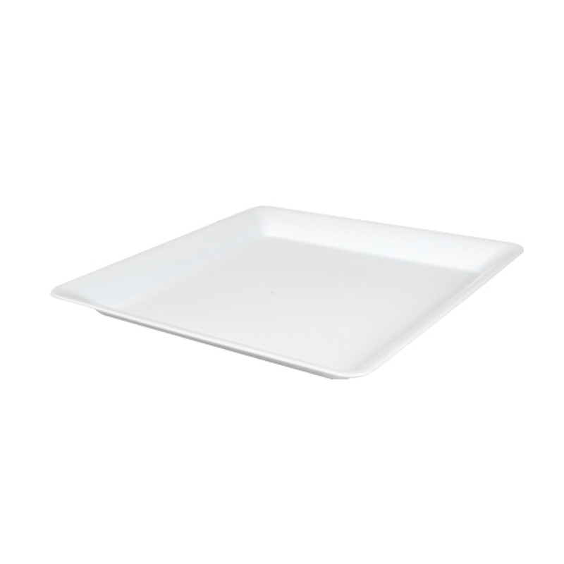"14"" x 14"" White Square Plastic Trays"